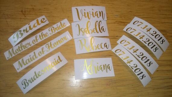 Wood Hanger Decals Bridal Party Decals Wedding Decals - Diy vinyl wedding hangers
