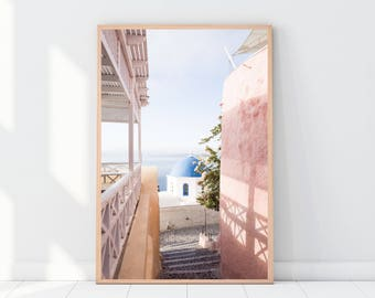 Santorini Poster, Santorini Print, Santorini Printable, Greece Poster, Travel Poster, Travel Digital Print, Travel Printable, Santorini Art