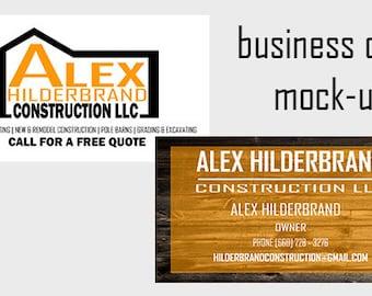 Business Cards and Logo Branding Kit | Brand Board | Custom | Construction | Graphic Design | Custom | Masculine
