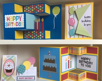 Birthday Cards Pack of 4