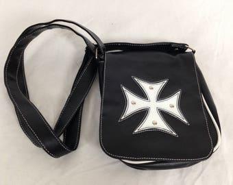 Goth biker cross purse