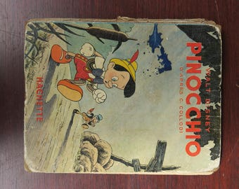 old comic collection, Walt Disney Pinocchio by c Collodi, George Lang, 1940, old comics collectibles...