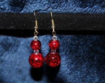 Double Ball Drop Earrings
