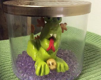 Crypto Collection - Drakmar the dragon - clay monster - Halloween - horror - handmade - mythology - kings and Queens - beast - creature