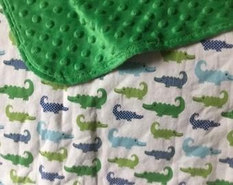 gentleman alligator baby blanket
