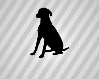 Dog Silhouette Sitting Greyhound - Svg Dxf Eps Silhouette Rld RDWorks Pdf Png AI Files Digital Cut Vector File Svg File Cricut Laser Cut
