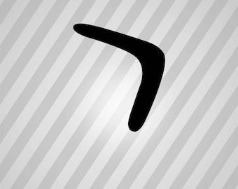 boomerang Silhouette - Svg Dxf Eps Silhouette Rld RDWorks Pdf Png AI Files Digital Cut Vector File Svg File Cricut Laser Cut
