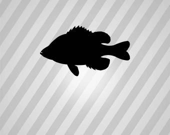 Sunfish Silhouette Sun Fish - Svg Dxf Eps Silhouette Rld RDWorks Pdf Png AI Files Digital Cut Vector File Svg File Cricut Laser Cut