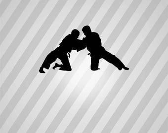 judo Silhouette - Svg Dxf Eps Silhouette Rld RDWorks Pdf Png AI Files Digital Cut Vector File Svg File Cricut Laser Cut