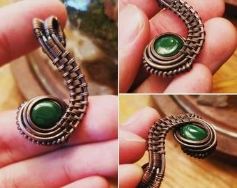 Malachite Copper Wire Pendant