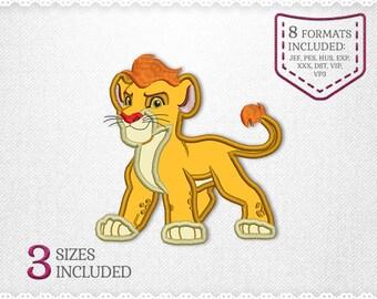 Lion Guard Kion Applique Machine Design - 3 Sizes - INSTANT DOWNLOAD - Applique, Embroidery, Designs