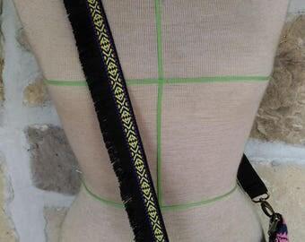 Ethnic black fringe, removable for bag handle