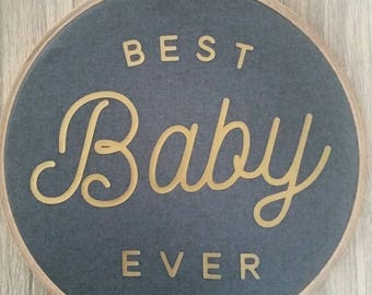 Decor baby room original embroidery hoop