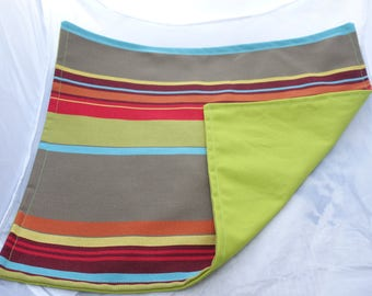 multicolored stripes table set