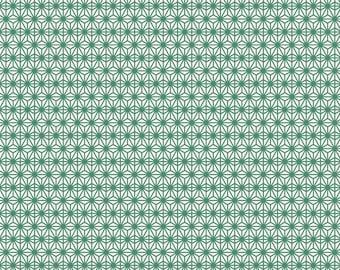 Fabric, Scandinavian, Eastern Sun, green, geometric patterns, thévenon