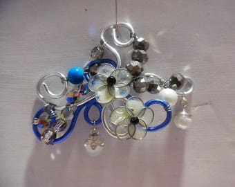Brooch beads and aluminum wire