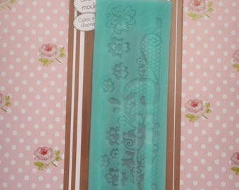 polymer clay flower lace silicone mold