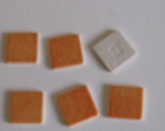 22 enamels of briare - orange matte glazes