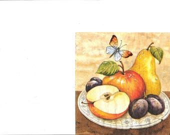 Napkin fruit plate