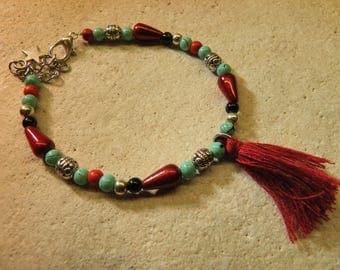 Bracelet beads and tassel