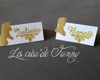 Place cards, fairy tale gold