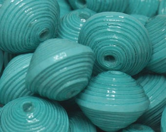 """Color of the world"" artisan Creation, the Turquoise paper beads."
