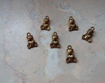 "Charms, charms, ""bears"" gold tone, new"