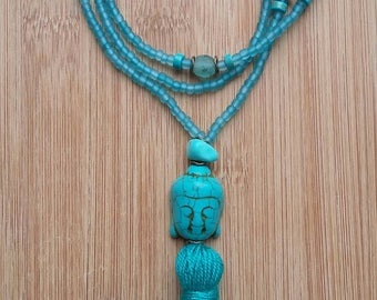 Necklace turquoise beads