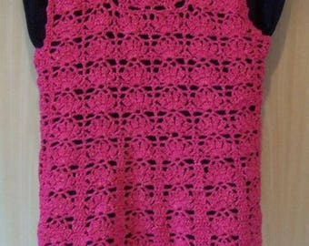 Raspberry acrylic and cotton tunic
