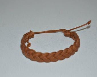 Bracelet braided genuine leather men or women