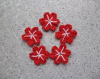 Handmade flowers 5 crochet cotton