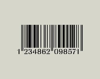Bar code (ref 782) adhesive vinyl stencil
