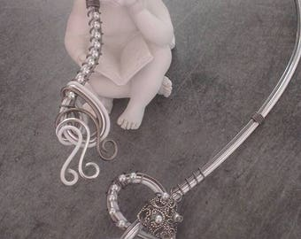 """Love"" necklace aluminum"