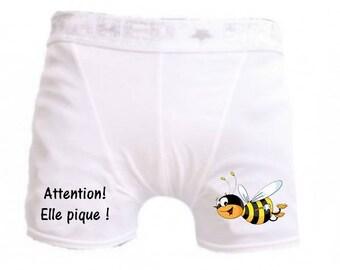 White men underwear humor attention it stings