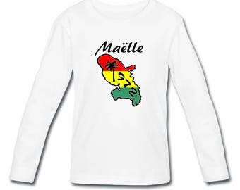 T-shirt sleeves Martinique girl personalized with name