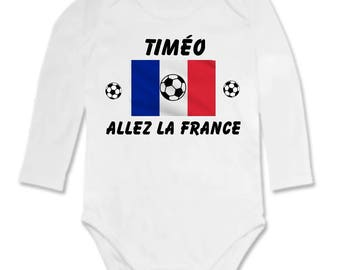 Go the France customized with name Bodysuit