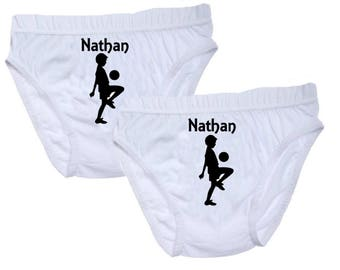pants white boy personalized name with football player