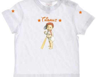 baby Baseball personalized with name t-shirt