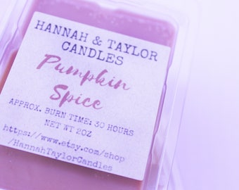 Pumpkin Spice Wax Melt | Pumpkin Spice Handmade Wax Tart | Touch of Spice Scented Wax Tart | Pumpkin Spice Candle | Fall Soy Wax Melt