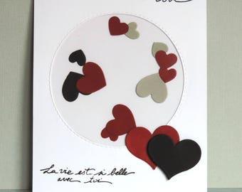 shaker box card, shake - Valentines day, wedding anniversary.