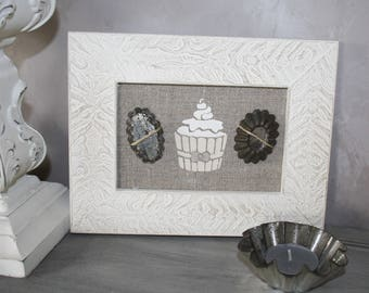 Frame home decor cupcake