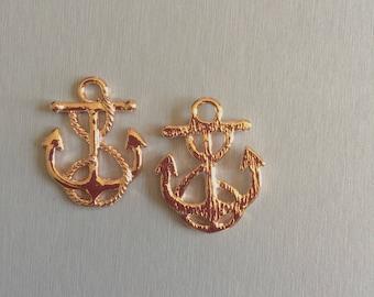 Rose gold anchor