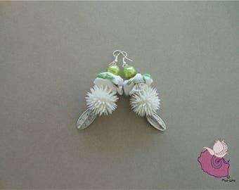 WHITE 15 FABRICS - 7 WHITE COLLECTION EARRINGS