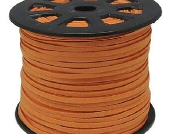 4 metres suede o2mm ORANGE suede cord