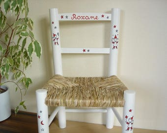 White straw Chair to name
