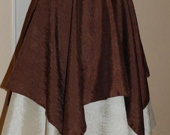 Color chocolate nougat colored skirt