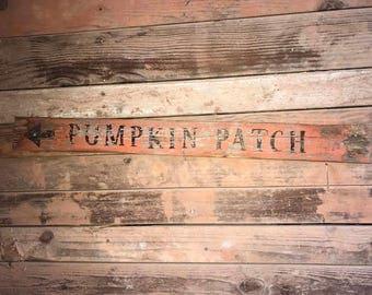Pumpkin Patch Aged Sign Rustic Decor Halloween Decor