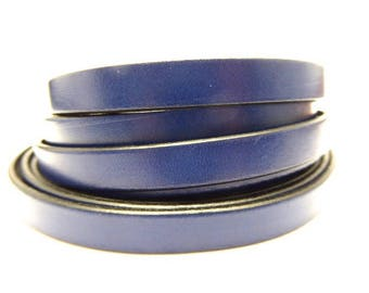 20 cm leather strap 10 mm Blue Navy