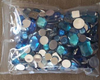 Turquoise rhinestone scrapbooking