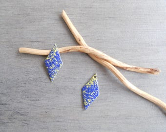 X 2 dark blue and yellow diamond sequins